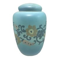 Rookwood Pottery Vellum Jar with Stylized Flower Decoration 1923
