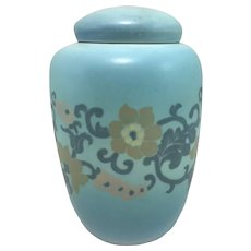 Rookwood Pottery Vellum Jar with Stylized Flower Decoration 1923