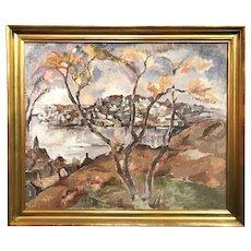 William Meyerowitz Cape Ann Impressionist Coastal Landscape Oil Painting, Gloucester