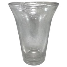 Large French Daum Bubble Glass Vase circa 1940