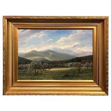 Erik Koeppel White Mountain NH Landscape Oil Painting, Mount Washington in Spring