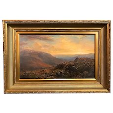 Erik Koeppel White Mountain NH Landscape Oil Painting, Mt. Madison from the Mt. Washington Auto Road