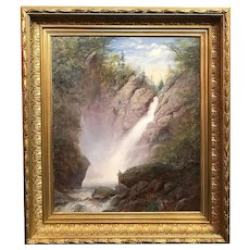 Erik Koeppel White Mountain NH Landscape Oil Painting, Glen Ellis Falls