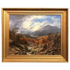 Erik Koeppel NH Landscape Oil Painting, The Great Gulf, White Mountains
