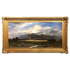 Erik Koeppel NH White Mountain Landscape Oil Painting, Clouds in the Moat Mountains