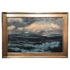 Gordon Hope Grant Large Seascape Oil Painting, The Nor'easter