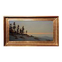 William R. Davis NH White Mountain Oil Painting, Chocorua at Twilight