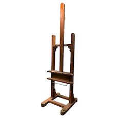 Wooden Painting Easel from Artist Charles Herbert Woodbury with Provenance