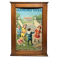 19th / 20th c Colorful Diamond Dye Cabinet Featuring Children Playing Jump Rope
