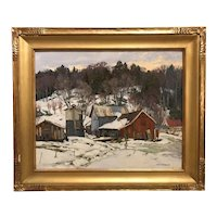 Thomas Michael Nicholas Oil Painting, Vermont Evening / New England Landscape