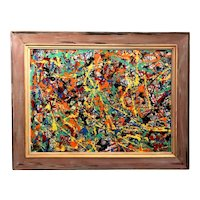 American Abstract Expressionist Oil or Acrylic Painting, School of Jackson Pollock