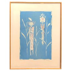 Dan Namingha Native American Abstract Expressionist Lithograph, Spring Maidens 1988