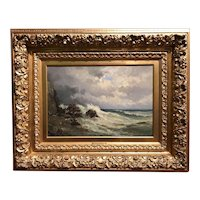 Joseph Antonio Hekking 19th Century Oil Painting of a Coastal Scene