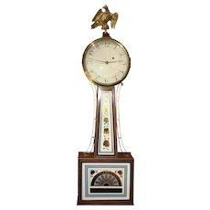 Simon Willard Patent Timepiece Banjo Clock with T Bridge Movement