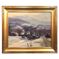 Emile Albert Gruppe Landscape Oil Painting, Early Morning, Mt. Mansfield, Vermont