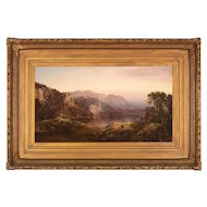 William Louis Sonntag Landscape Oil Painting, Golden Sunlight, New Hampshire circa 1870
