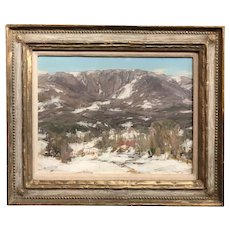 Jay Hall Connaway Landscape Oil Painting, Equinox Mountain in Winter