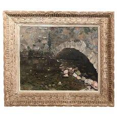 Peter Hayward French Landscape Oil Painting, Chartres Pont De L'Eure