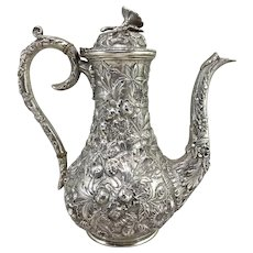 S. Kirk & Son Company Sterling Silver Foliate Repousse Coffee or Tea Pot