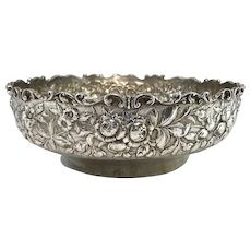 S. Kirk & Son Company Foliate Repousse Low Bowl with Monogram