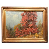 John Joseph Enneking Oil Painting, Autumn Landscape