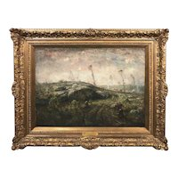 Henry Ward Ranger Landscape Oil Painting, Clearing The Land 1914