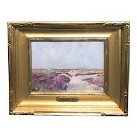 Emil Soren Carlsen Impressionist Oil Painting, Beach Dunes