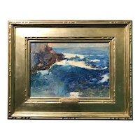 Soren Emil Carlsen Impressionist Coastal Oil Painting of the Ocean