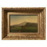 James Morgan Lewin White Mountain Landscape Oil Painting, Moat Mountain 1863