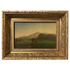 James Morgan Lewin White Mountain Landscape Oil Painting, Moat Mountain 1863