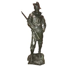 Allen George Newman Bronze of Spanish American War US Rough Rider Soldier, The Hiker