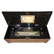 Swiss Rosewood 12 Air Cylinder Music Box circa 1880