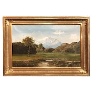 George Loftus Noyes White Mountain Landscape Oil Painting, Mt. Washington 1883