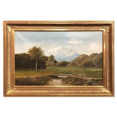 George Loftus Noyes White Mountain Landscape Oil Painting, Mt. Washington 1883