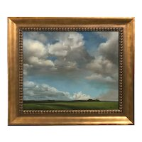 Mary Phillips Landscape Oil Painting, Clouds As Prayer Over The Land