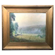 Joseph H Greenwood Impressionist Landscape Oil Painting, A May Morning 1911
