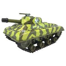 Marx Tin Litho Toy Wind-Up  Sherman Tank #2 circa 1960's