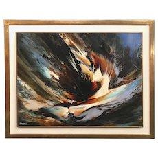 Leonardo M. Nierman Modernist Abstract Oil Painting, Tempest