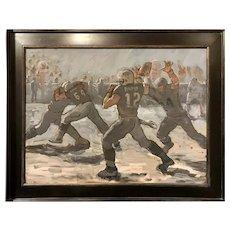 David Kasman Football Snow Bowl Oil Painting Study, The Tuck Rule
