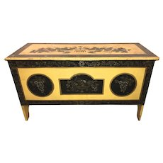 Early 19th Century New England Painted and Stenciled Blanket Chest