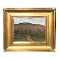 William R. Davis New Hampshire Landscape Oil Painting, View Towards Mt. Monadnock