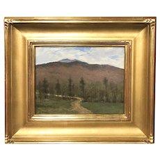 William R. Davis New Hampshire Landscape Oil Painting, View Towards Mt. Monadnock