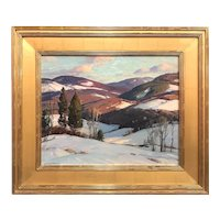 Aldro Thompson Hibbard Landscape Oil Painting, Vermont Mountains