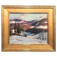 Aldro Thompson Hibbard Landscape Oil Painting, Vermont Mountains