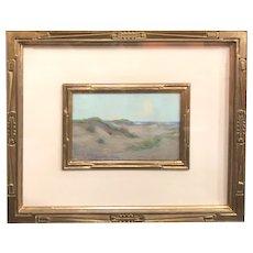 Granville Redmond Pastel Painting Coastal Scene with Dunes 1904