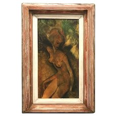 Paul Dyck Impressionist Oil Painting of a Nude Woman, The Sprite