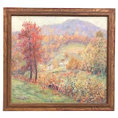 Alonzo W. Ritter Maryland Landscape Oil Painting, Autumn Glory, Blair's Valley