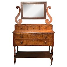 Sheraton Tiger Maple Dressing Table with Bold Figure
