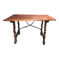18th Century Carved Walnut Spanish Trestle Table