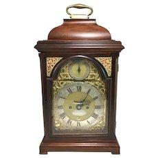 English Mahogany Case Bracket Clock, James Gibbs London, circa 1740